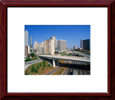 Atlanta Skyline Mahogany Framed Picture