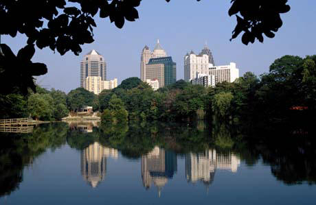 Midtown Skyline viewed from Piedmont Park